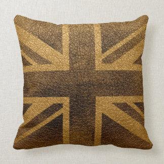 United Kingdom Flag Vintage #3 Pillow