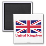 United Kingdom Flag with Name Fridge Magnet