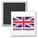 United Kingdom Flag with Name Refrigerator Magnet