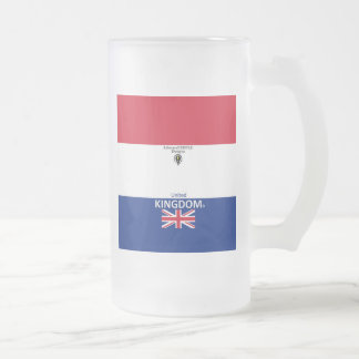 United Kingdom Frosted Glass Frosted Glass Beer Mug