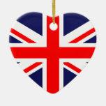 United Kingdom Great Britain UK national flag Christmas Tree Ornaments