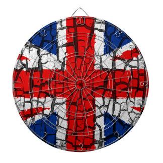 united kingdom grunge flag old usa symbol dart board
