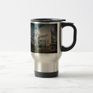 united kingdom Lamppost thames london tower bridge Travel Mug
