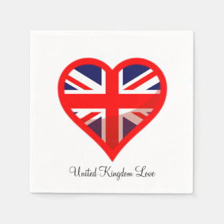 United Kingdom Love Standard Cocktail Napkin