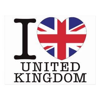 United Kingdom Love v2 Postcard