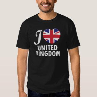 United Kingdom Love W Shirts