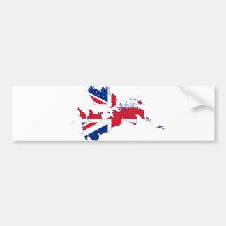 United Kingdom map Flag GB Bumper Sticker