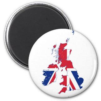 United Kingdom map Flag GB 2 Inch Round Magnet