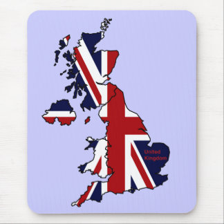 United Kingdom Mapped Mousepad