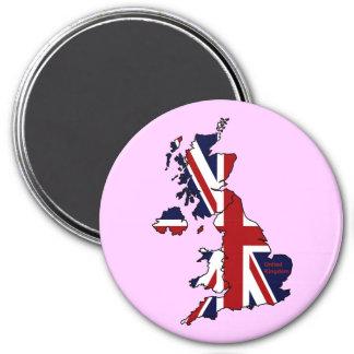 United Kingdom Mapped Refrigerator Magnet