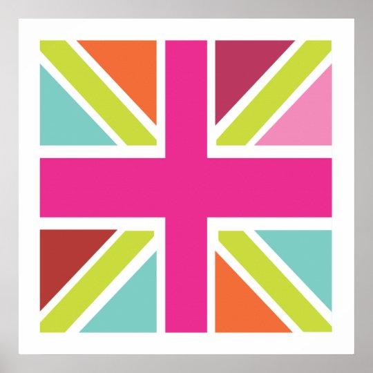 United Kingdom Multi Color Flag Print