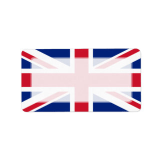 United Kingdom National Flag Address Label