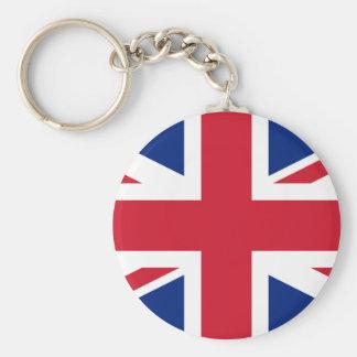 United Kingdom National Flag Basic Round Button Keychain