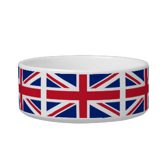 United Kingdom National Flag Cat Bowl