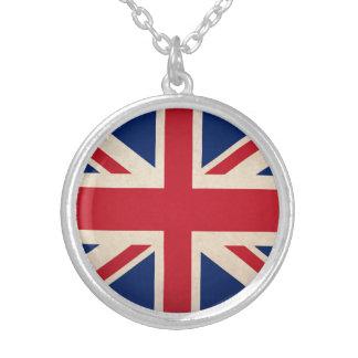 United Kingdom national flag Round Pendant Necklace