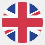 United Kingdom National Flag Round Stickers
