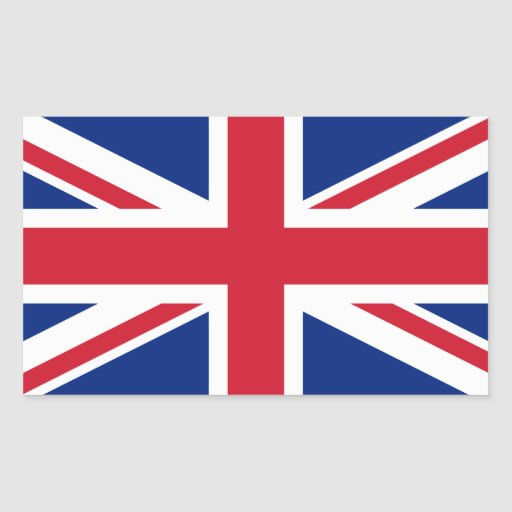 United Kingdom National Flag Rectangle Sticker