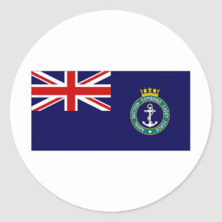 United Kingdom Naval Section Combined Cadet Force Round Sticker