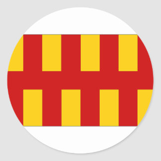United Kingdom Northumberland Flag Classic Round Sticker
