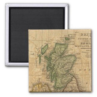 United Kingdom of England, Scotland and Ireland 2 Inch Square Magnet