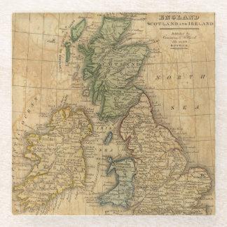 United Kingdom of England, Scotland and Ireland Glass Coaster