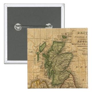 United Kingdom of England, Scotland and Ireland Pinback Button