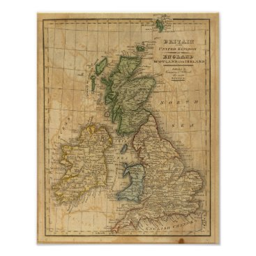davidrumsey United Kingdom of England, Scotland and Ireland Poster