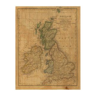 United Kingdom of England, Scotland and Ireland Wood Wall Art