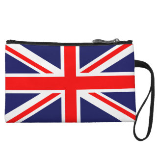 United Kingdom of Great Britain Union Jack Flag Wristlet Clutches