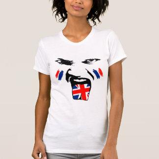 United Kingdom  Painted Fan Female Face T-Shirt