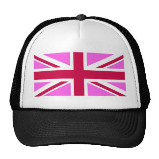 united kingdom pink flag gay proud great britain trucker hat