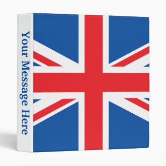 United Kingdom Plain Flag 3 Ring Binder
