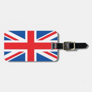 United Kingdom Plain Flag Bag Tag