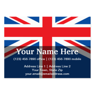 United Kingdom Plain Flag Business Cards