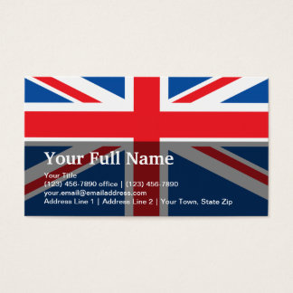 United Kingdom Plain Flag Business Card