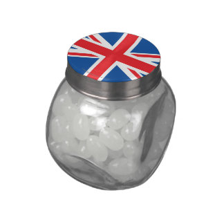 United Kingdom Plain Flag Jelly Belly Candy Jars