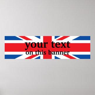 United Kingdom Plain Flag Poster