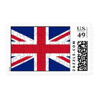 United Kingdom Puzzle Flag Postage Stamp