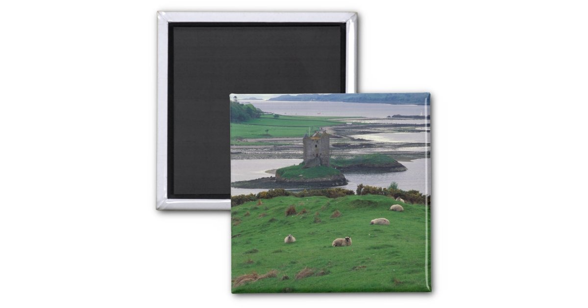 Isle Of Skye United Kingdom  city pictures gallery : United Kingdom, Scotland, Isle of Skye, old 2 Inch Square Magnet ...