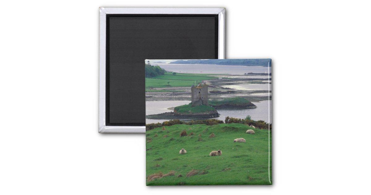 Isle Of Skye United Kingdom  city photo : United Kingdom, Scotland, Isle of Skye, old 2 Inch Square Magnet ...