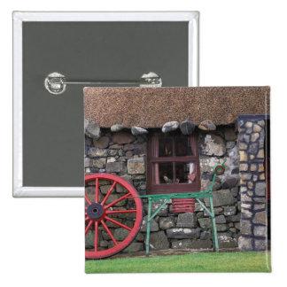 United Kingdom, Scotland, Isle of Skye, stone Pinback Button