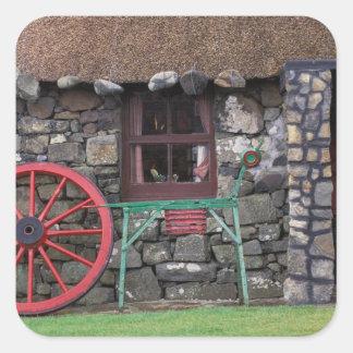 United Kingdom, Scotland, Isle of Skye, stone Square Sticker