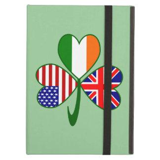 United Kingdom Shamrock Green Background iPad Air Case