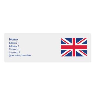 United Kingdom - Skinny Mini Business Card