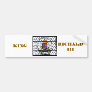 UNITED KINGDOM STAINED GLASS RICHARD III BUMPER STICKER