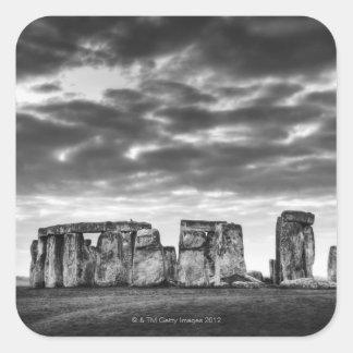 United Kingdom, Stonehenge 11 Square Sticker