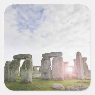 United Kingdom, Stonehenge 2 Square Sticker