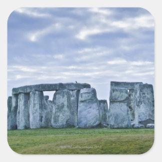 United Kingdom, Stonehenge 3 Square Sticker