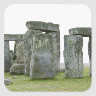 United Kingdom, Stonehenge 9 Square Sticker