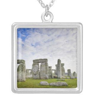 United Kingdom, Stonehenge Square Pendant Necklace